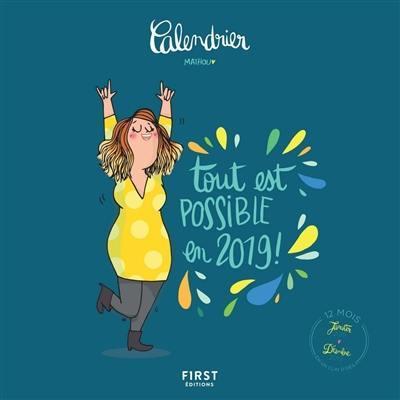 Calendrier Mathou : tout est possible en 2019 ! : 12 mois, janvier-décembre