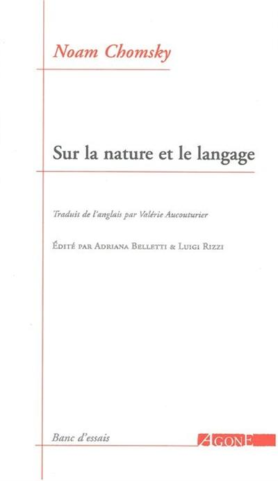 Sur la nature et le langage