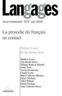 Langages. n° 202, La prosodie du français en contact
