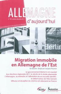 Allemagne d'aujourd'hui. n° 198, Migration immobile en Allemagne de l'Est