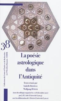 La poésie astrologique dans l'Antiquité