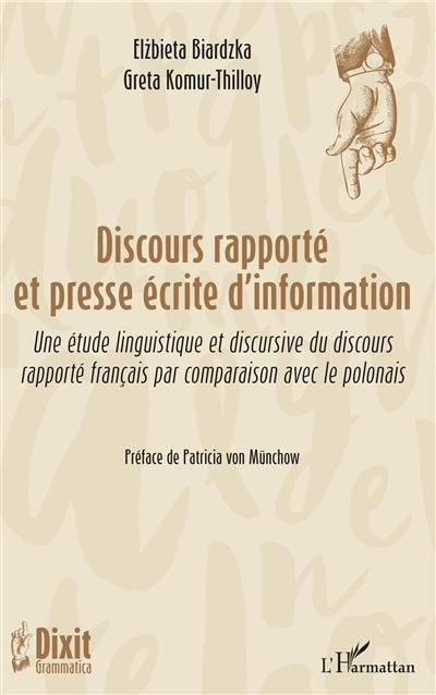 Discours rapporté et presse écrite d'information