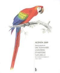 Agenda 2009 illustré de planches du Dictionnaire universel d'histoire naturelle de Charles d'Orbigny (1841-1849)
