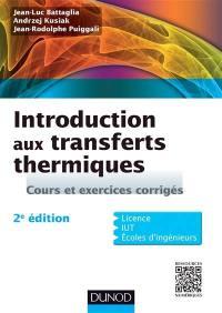 Introduction aux transferts thermiques