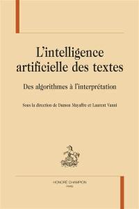 L'intelligence artificielle des textes