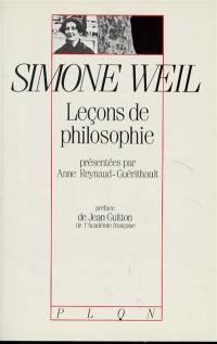 Leçons de philosophie de Simone Weil