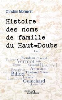 Histoire des noms de famille du Haut-Doubs