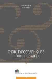 Choix typographiques