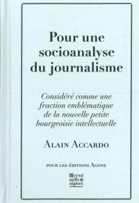 Pour une socioanalyse du journalisme