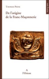 De l'origine de la franc-maçonnerie