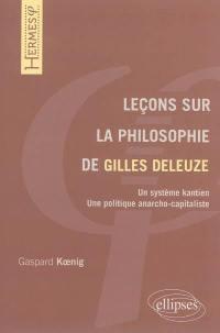 Leçons sur la philosophie de Gilles Deleuze