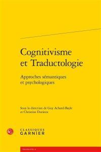 Cognitivisme et traductologie