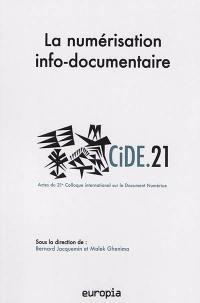 La numérisation info-documentaire