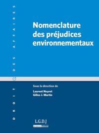 Nomenclature des préjudices environnementaux