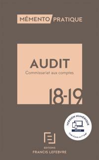 Audit commissariat aux comptes 2017-2018