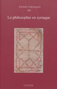 La philosophie en syriaque