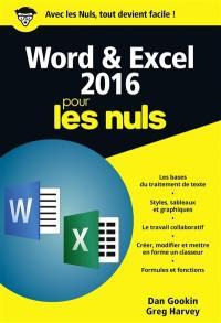 Word & Excel 2016 pour les nuls