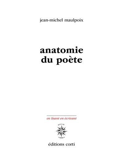 Anatomie du poète