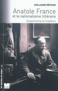 Anatole France et le nationalisme littéraire