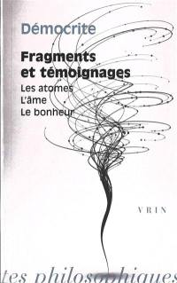 Fragments et témoignages