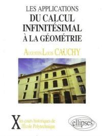 Les applications du calcul infinitésimal à la géométrie