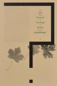 Un design de livre systématique ?