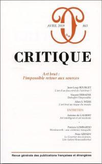 Critique. n° 863, Art brut
