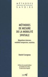 Méthodes de mesure de la mobilité spatiale
