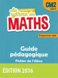 Maths CM2, cycle 3 : guide pédagogique, fichier de l'élève : programmes 2016