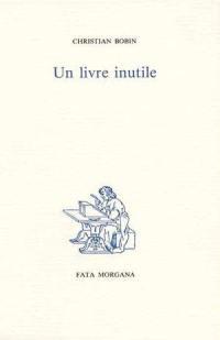 Un livre inutile