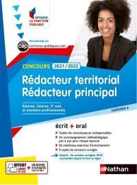 Rédacteur territorial et rédacteur principal, concours 2021-2022