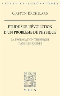 Etude sur l'évolution d'un problème de physique