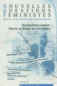 Nouvelles questions féministes. n° 2 (2004), Postcommunisme