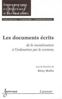 Les documents écrits