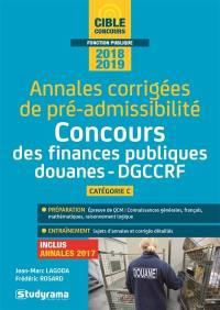 Annales corrigées de pré-admissibilité 2018-2019