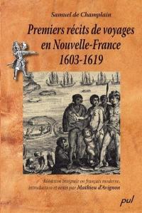 Premiers récits de voyages en Nouvelle-France, 1603-1619