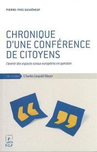 Chronique d'une conférence de citoyens