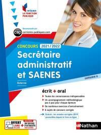 Secrétaire administratif et SAENES, concours 2021-2022