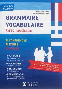Grammaire, vocabulaire