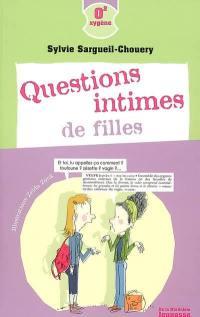 Questions intimes de filles