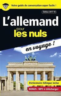 L'allemand pour les nuls en voyage !