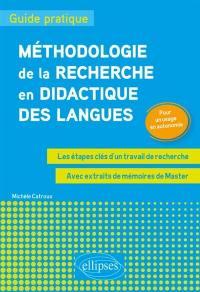 Méthodologie de la recherche en didactique des langues
