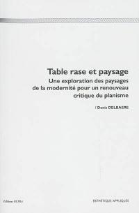 Table rase et paysage