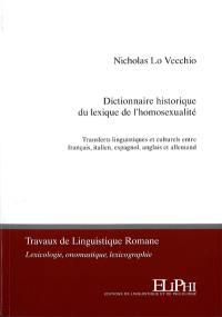 Dictionnaire historique du lexique de l'homosexualité