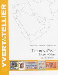 Catalogue Yvert et Tellier de timbres-poste, Timbres d'Asie, Moyen-Orient