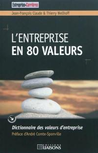 L'entreprise en 80 valeurs : dictionnaire des valeurs d'entreprise