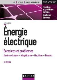 Energie électrique, exercices et problèmes