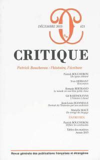 Critique. n° 823, Patrick Boucheron