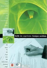 Guide des organismes d'analyse sociétale des entreprises