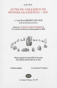 Actes du colloque de Rennes-le-Château